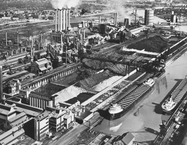 1947 Photograph - Ford's River Rouge Plant by Underwood Archives