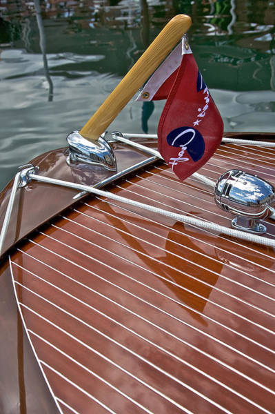 Photograph - Foredeck Chris Craft by Steven Lapkin