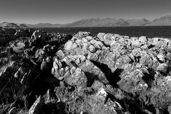 Photograph - Foreground Rocks And Background Mountains by Dennis Dame