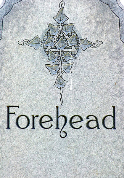 Photograph - Forehead Headstone by Jeff Lowe