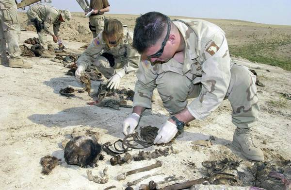 Iraqi Photograph - Forensic Investigation by Robert R. Hargreaves Jr.