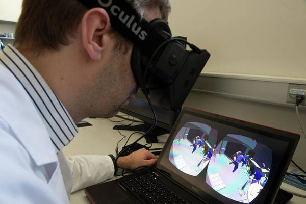 Oculus Wall Art - Photograph - Forensics Virtual Reality Headset by Louise Murray/science Photo Library