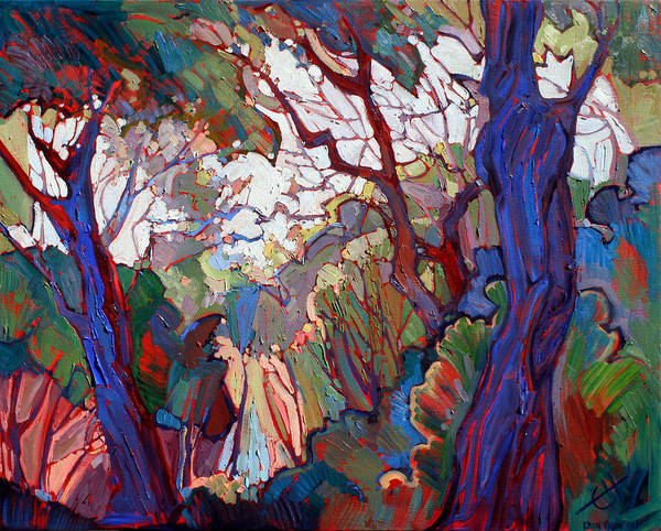 California Wine Country Painting - Forest Deep by Erin Hanson