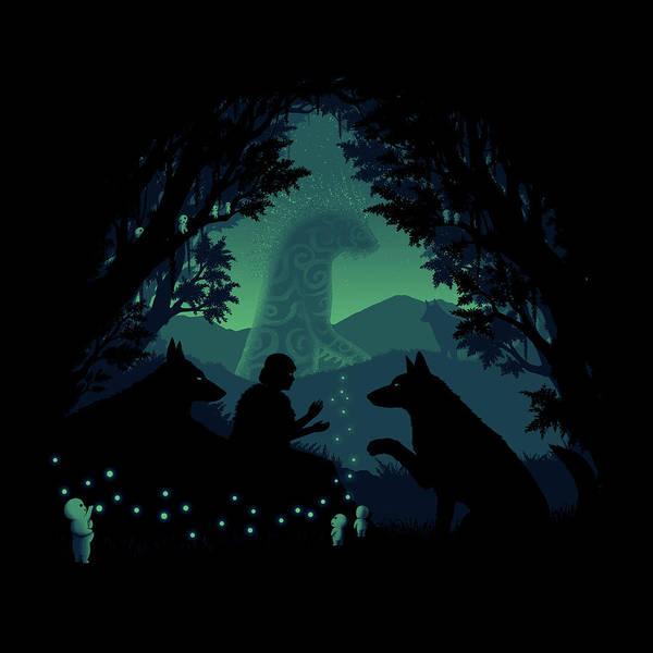 Totoro Digital Art - Forest Dwellers by Pigboom