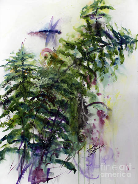Painting - Forest Fern And Dragonfly by Ginette Callaway