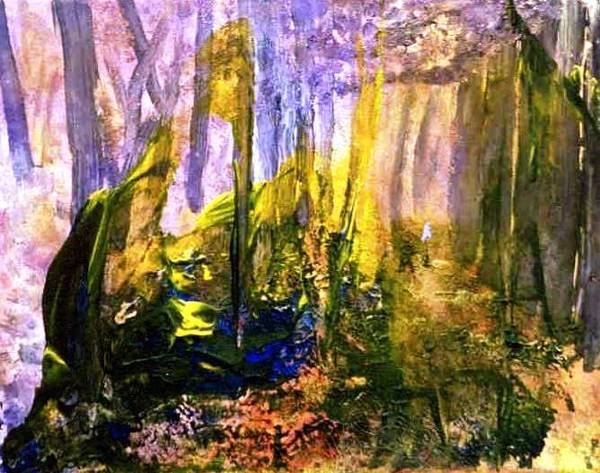 Desolation Painting - Forest Fire Devestation by Bruce Combs - REACH BEYOND
