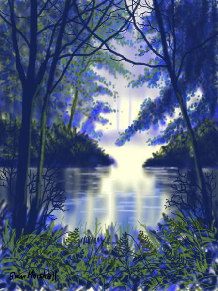 Painting - Forest Glow by Glenn Marshall