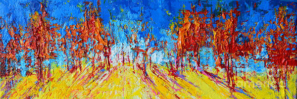Painting - Tree Forest 1 Modern Impressionist Landscape Painting Palette Knife Work by Patricia Awapara