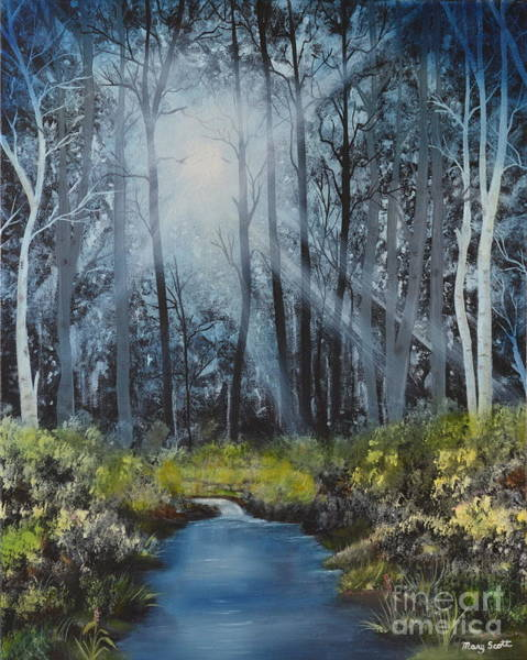 Painting - Forest Light by Mary Scott