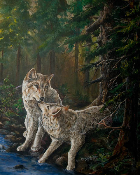 Painting - Forest Mates Detail by Sherry Shipley