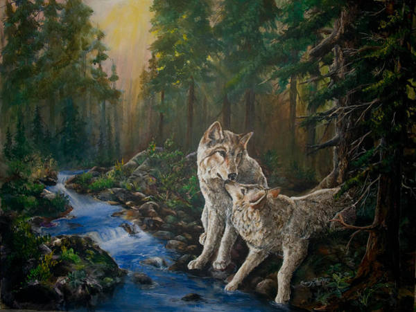 Painting - Forest Mates by Sherry Shipley