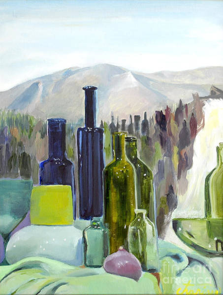Charisse Painting - Forest Of Bottles by Charisse Sotto