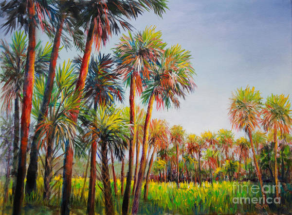 Gulf State Park Painting - Forest Of Palms by Lou Ann Bagnall