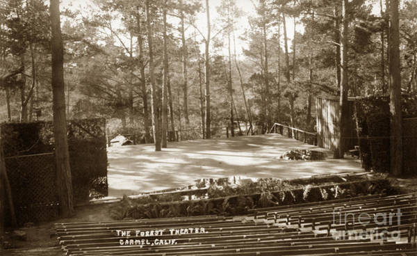 Photograph - Forest Theater Carmel California  Circa 1930 by California Views Archives Mr Pat Hathaway Archives