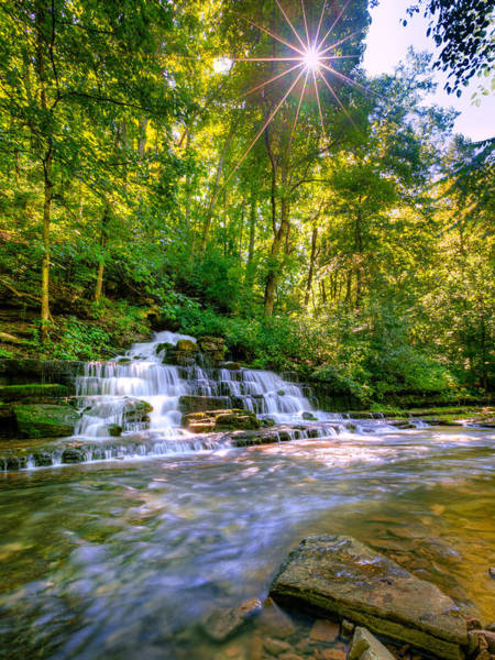 Village Creek Photograph - Forest Waterfall by Alexey Stiop