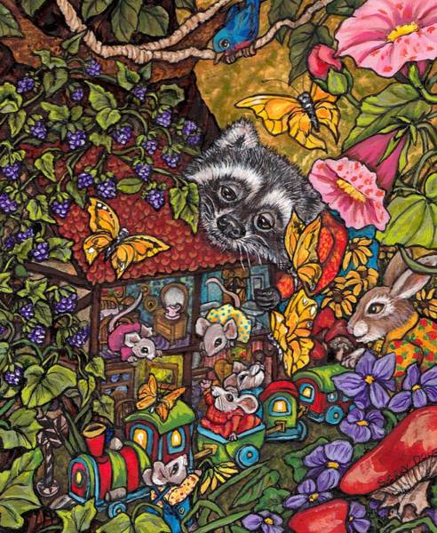 Wall Art - Painting - Forest Whimsey by Sherry Dole