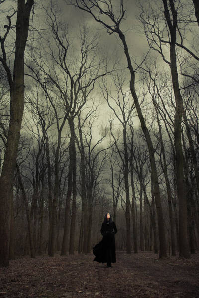 Black Magic Woman Wall Art - Photograph - Forest Witch by Cambion Art