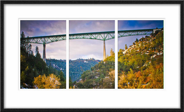 Photograph - Foresthill Bridge Triptych by Sherri Meyer