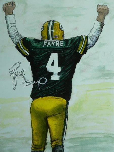 Painting - Forever Favre by Dan Wagner