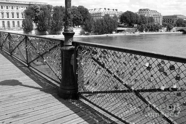 Photograph - Forever Love In Paris - Black And White by Carol Groenen