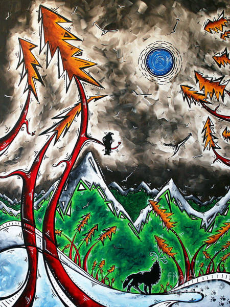 Wall Art - Painting - Forever Wild Original Madart Painting by Megan Duncanson