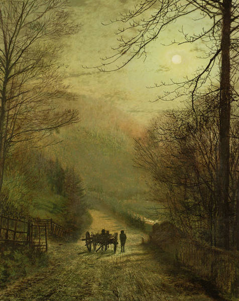 Gloomy Painting - Forge Valley, Scarborough by John Atkinson Grimshaw