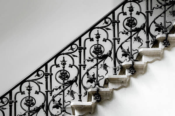Staircases Photograph - Forged Handrail by Gilbert Claes