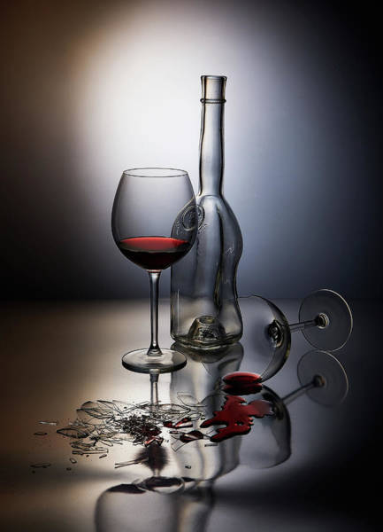 Wineglass Wall Art - Photograph - Forget The... by Dmitriy Batenko