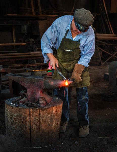 Photograph - Forging by Thomas Hall