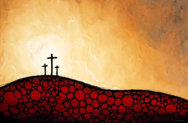 Church Of The Cross Painting - Forgiven - Christian Art By Sharon Cummings by Sharon Cummings