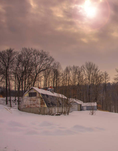 Wall Art - Photograph - Forgotten Barn In The Snow by Dave Sandt