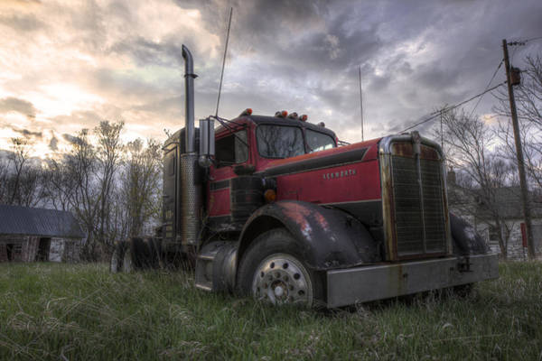 Semi Truck Photograph - Forgotten Big Rig 2013 by Aaron J Groen