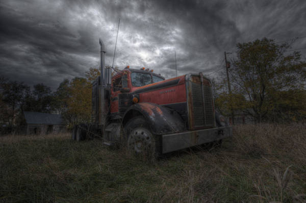 Semi Truck Photograph - Forgotten Big Rig 2014 by Aaron J Groen
