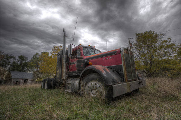 Semi Truck Photograph - Forgotten Big Rig 2014 V2 by Aaron J Groen