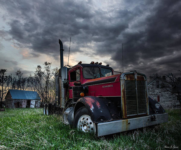 Semi Truck Photograph - Forgotten Big Rig by Aaron J Groen