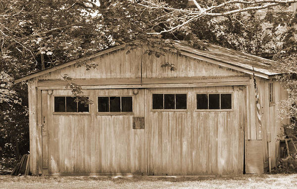 Digital Art - Forgotten Garage by Kirt Tisdale