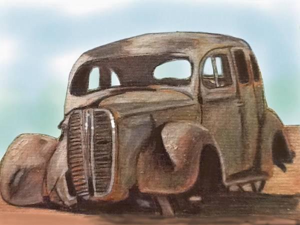 Rust Drawing - Forgotten by Helen Bowman