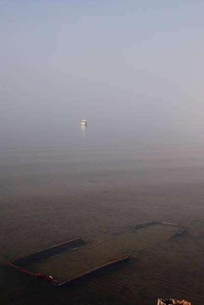 Choctawhatchee Bay Photograph - Forgotten In The Fog by Charlie Day