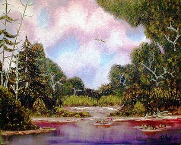 Painting - Forgotten Inlet by The GYPSY