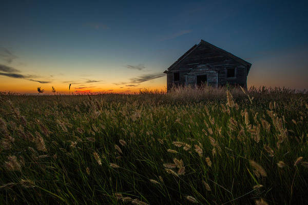 Frontier Photograph - Forgotten On The Prairie by Aaron J Groen