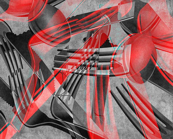 Eating Mixed Media - Fork Knife Spoon 8 by Angelina Tamez