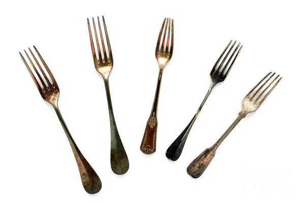 Silverware Photograph - Forks by Olivier Le Queinec