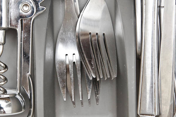 Drawers Photograph - Forks by Tom Gowanlock