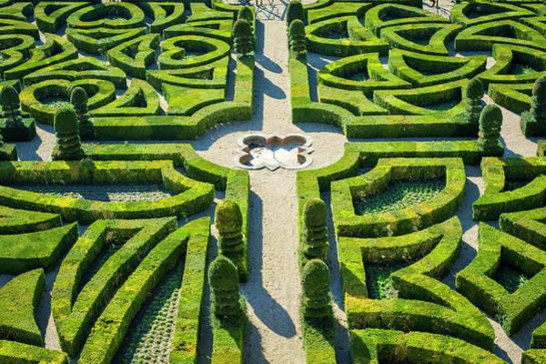 Villandry Photograph - Formal Castle Gardens At Château De by Jason Langley