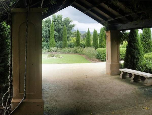 Photograph - Formal Garden And Porch by David Rich