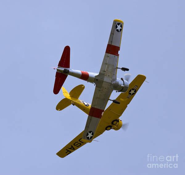 Harvard Propeller Photograph - Formation Flight by Tim Mulina