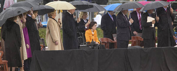 Hillary Clinton Photograph - Former Us President Bill Clinton by Panoramic Images