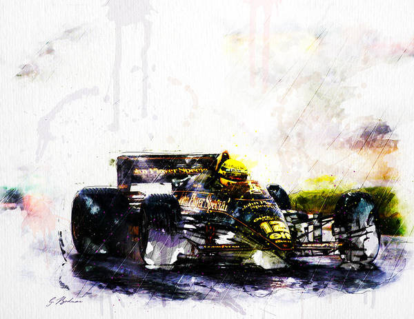 Cool Car Digital Art - Formula 1 John Player Special by Gary Bodnar