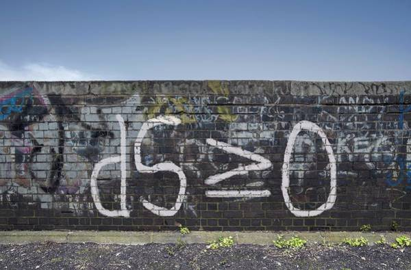 Wall Art - Photograph - Formula For Entropy Painted On Old Wall by Robert Brook