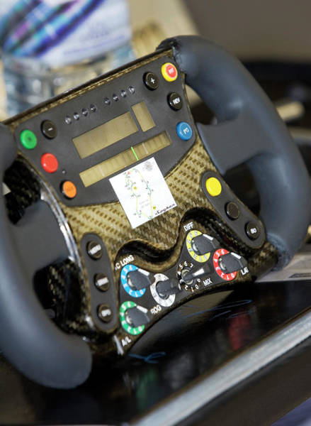 Handling Photograph - Formula One Car Steering Wheel by Gustoimages/science Photo Library